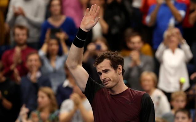 Andy Murray salutes the crowd after winning his first singles tournament since Dubai 31 months ago - AP