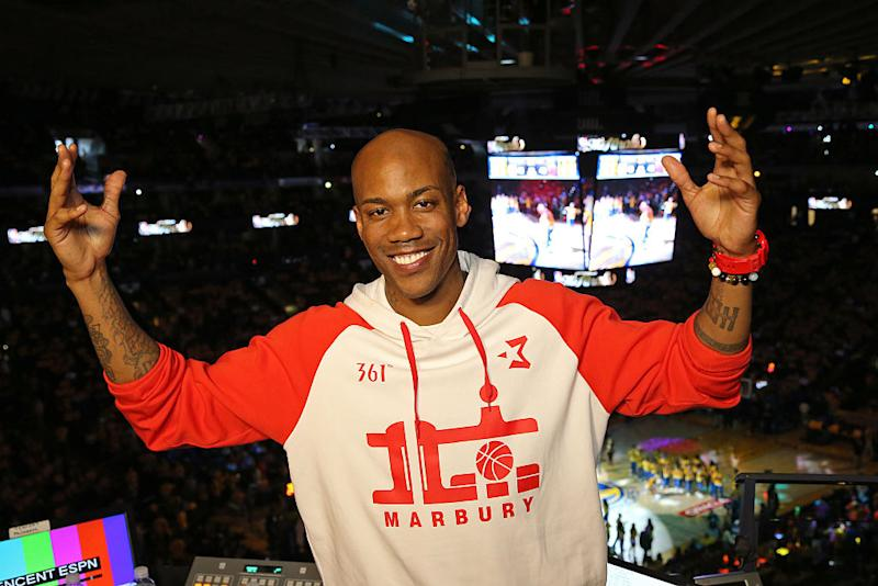 Stephon Marbury wants us to know that it's lit. (Bruce Yeung/NBAE/Getty Images)