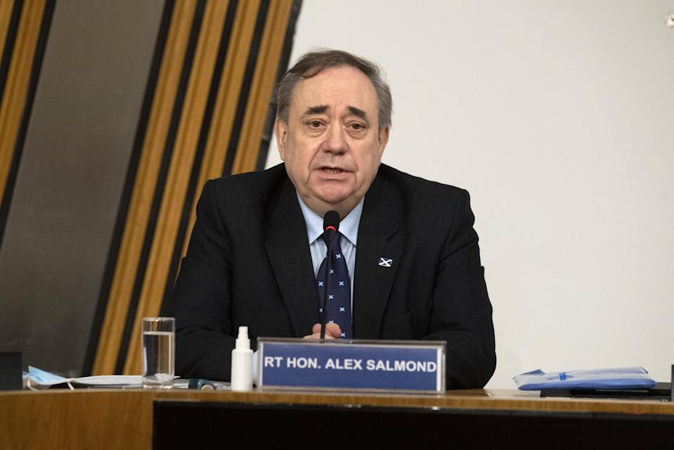 Alex Salmond making his opening statement to the Scottish Parliament committee on February 26PA