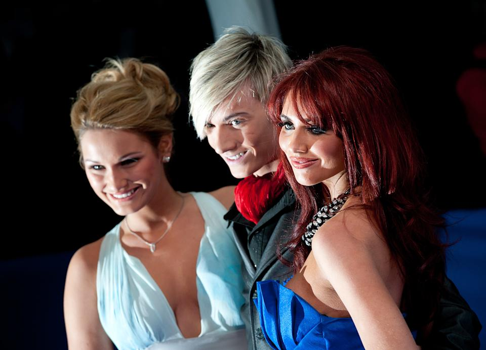 The Only Way Is Essex' Stars (left to right) Sam Faiers, Harry Derbidge and Amy Childs arriving at the 2010 British Comedy Awards at Indigo2, at the O2 Arena, London.