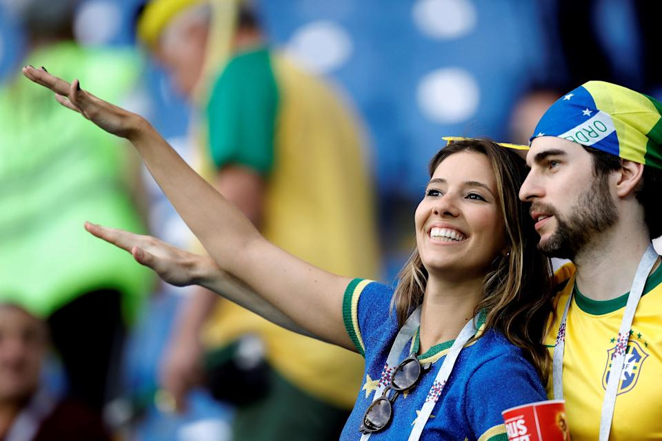 <p>Fans are seen ahead of 2018 FIFA World Cup Russia Group E match between Brazil and Switzerland at Rostov Arena in Rostov-on-Don, Russia on June 17, 2018.<br>(Photo by Gokhan Balci/Anadolu Agency/Getty Images) </p>