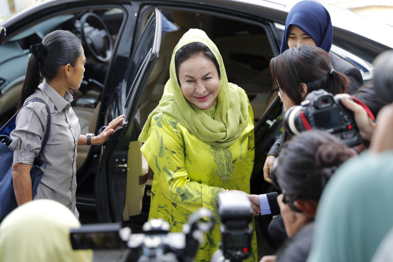 Former first lady of Malaysia arrested on money laundering charges