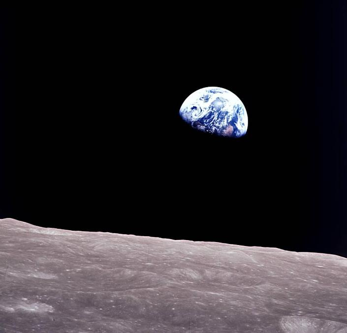Taken aboard Apollo 8 by Bill Anders, this iconic picture shows Earth peeking out from beyond the lunar surface as the first crewed spacecraft circumnavigated the moon. (Photo: NASA)
