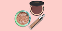 """<p>No need to spend hours at the beach or in the sun to get glowy skin. While winter may have washed you out, you can get a healthy, luminous look sans sunburn with <a href=""""https://www.goodhousekeeping.com/beauty-products/g32702303/best-bronzers/"""" rel=""""nofollow noopener"""" target=""""_blank"""" data-ylk=""""slk:the right bronzer"""" class=""""link rapid-noclick-resp"""">the right bronzer</a>. This magical makeup simultaneously warms and <a href=""""https://www.goodhousekeeping.com/beauty-products/g33448314/best-highlighters/"""" rel=""""nofollow noopener"""" target=""""_blank"""" data-ylk=""""slk:highlights your face"""" class=""""link rapid-noclick-resp"""">highlights your face</a>, giving you that post-tropical-vacation look. </p><p>For darker skin tones in particular, the <em>wrong</em> shade will leave you looking ashy (and nobody wants that!). Instead, find a color that's one or two shades deeper than your natural skin tone. Like choosing <a href=""""https://www.goodhousekeeping.com/beauty-products/g35821694/best-blush-for-dark-skin/"""" rel=""""nofollow noopener"""" target=""""_blank"""" data-ylk=""""slk:your blush"""" class=""""link rapid-noclick-resp"""">your blush</a>, <strong>knowing your undertones can help you select a bronzer that complements your skin</strong> for a natural and realistic glow. Not sure? Put on some jewelry. If you look good in gold, you likely have warm undertones and should gravitate toward golden bronzers. If you stun in silver, then you have cooler undertones — soft, cool browns will complement your skin. If you can wear either color, then you have neutral undertones, and you can stick with medium browns. </p><p>Skin tone is important too: <strong>For people with medium or olive skin tones, copper-colored bronzers really complement your complexion, </strong>though almost any bronzer will look great on you. <strong>Those with with deep and dark skin tones should opt for dark brown colors or deep orange-brown shades</strong> to give you a natural glow. </p><h2 class=""""body-h2"""">How to apply bronzer on dark skin</h"""