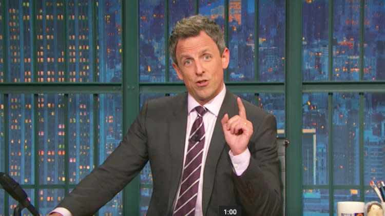 Seth Meyers Follows Eminem's Lead, Gives Fans A Trump Ultimatum