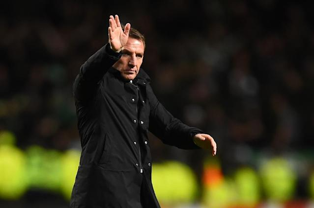Celtic's Brendan Rodgers rules himself out of the running to replace Arsene Wenger (AFP Photo/ANDY BUCHANAN )