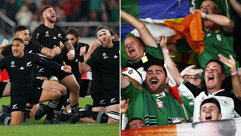 Irish fans sung over the top of the Haka at the Rugby World Cup.