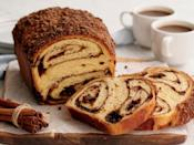 "<p>Instead of chocolate, this babka recipe uses cinnamon brown sugar for filling, and a streusel topping. Like a cross between a bread and a cake, babka is equally delicious for brunch or dessert, and pairs perfectly with your favorite warm beverage.</p><p><em><a href=""http://toriavey.com/toris-kitchen/2015/12/cinnamon-babka/"" rel=""nofollow noopener"" target=""_blank"" data-ylk=""slk:Get the recipe for cinnamon babka"" class=""link rapid-noclick-resp"">Get the recipe for cinnamon babka </a></em></p>"