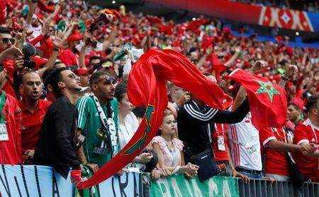Soccer Football - World Cup - Group B - Portugal vs Morocco - Luzhniki Stadium, Moscow, Russia - June 20, 2018 Morocco fans during the match REUTERS/Maxim Shemetov