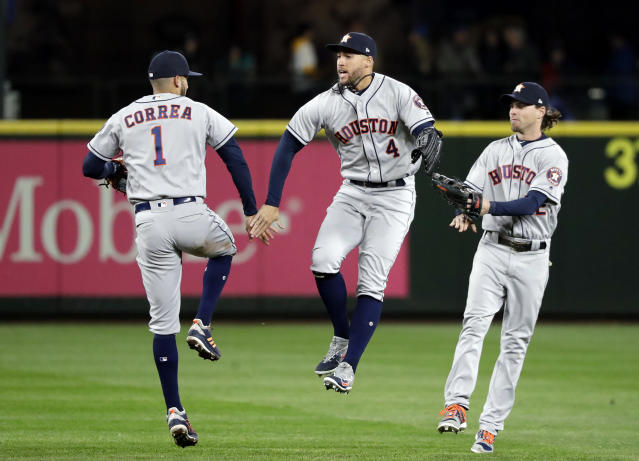 The Astros are still the favorites to win the 2018 World Series. (AP Photo)