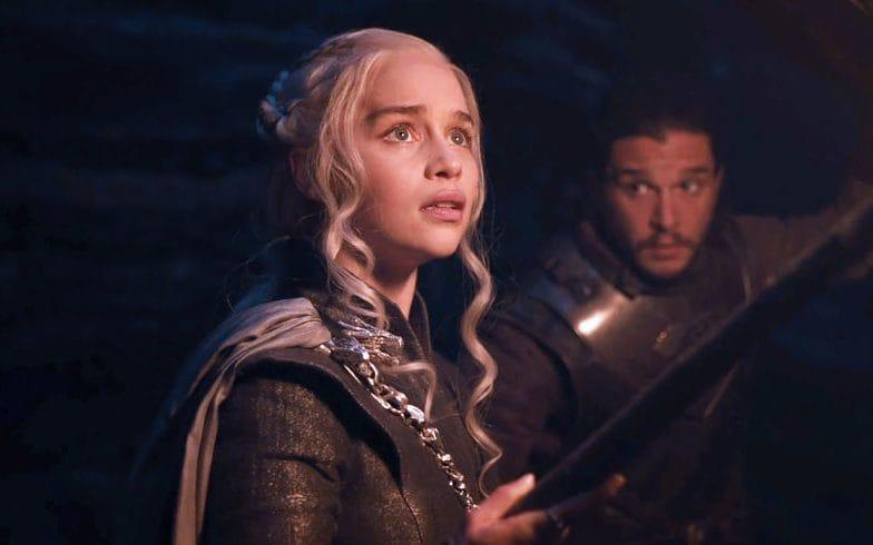 Daenerys Targaryen and Jon Snow on HBO's Game of Thrones