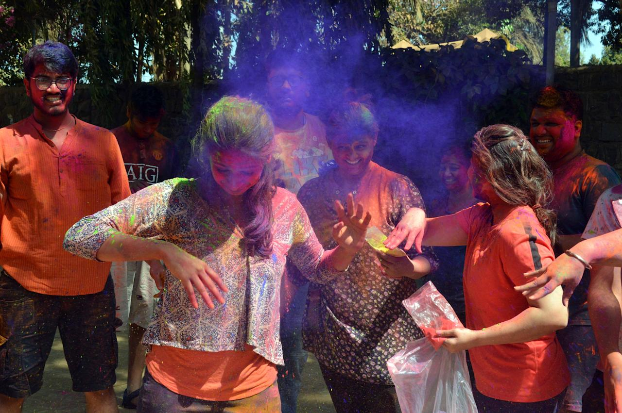 <p>Holi revellers in Mumbai paint the town red, blue, green and more! </p>