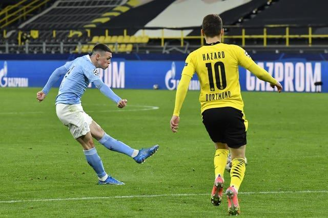 Phil Foden scored two crucial goals against Dortmund