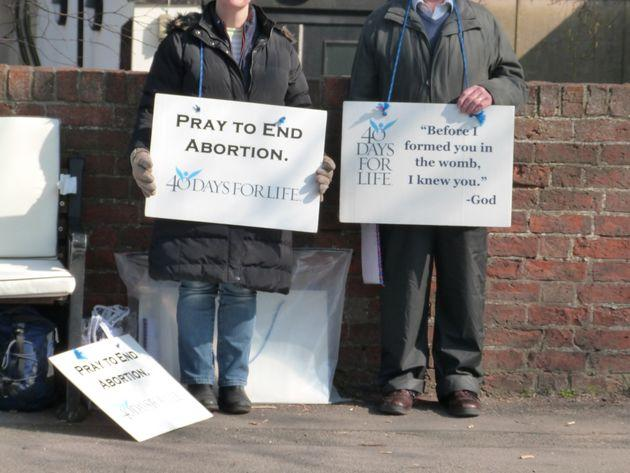 40 Days for Life protesters, pictured here in 2019.