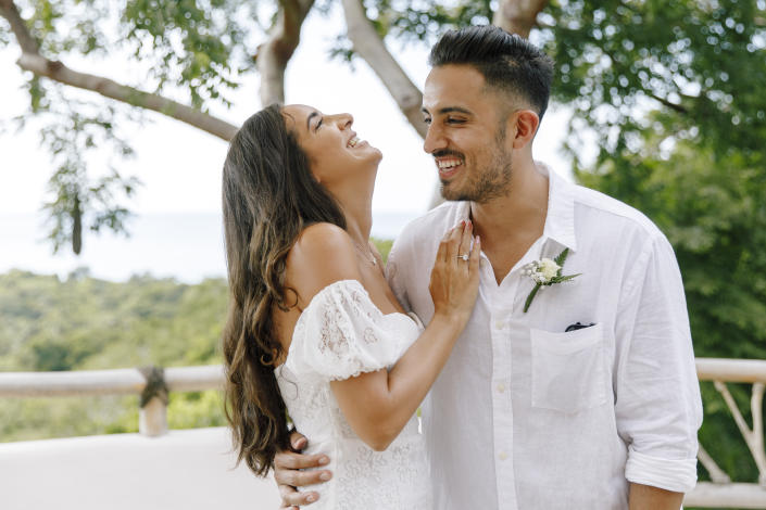 Holly-Jade and Fernando Landeros tied the knot in September after the pandemic brought them closer together. (Photo: Courtesy of Holly-Jade Landeros)