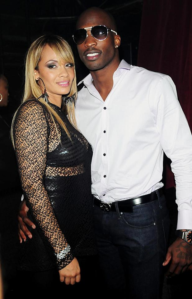 """<b>Chad Johnson and Evelyn Lozada</b><br><br>Remember reading about how the NFL's Chad Johnson, who briefly changed his last name to Ochocinco in honor of his number 85 jersey, had married Evelyn Lozada? Well, it's already over. """"Basketball Wives"""" star Lozada filed for divorce this week after just 41 days of what we're guessing was not wedded bliss. The split was prompted by Johnson's arrest for misdemeanor domestic violence after he allegedly head-butted his bride. Reportedly, the couple was arguing because Lozada found a receipt for a box of condoms. Since the incident, Johnson's found himself not only without a wife, but without a planned VH1 reality show """"Ev and Ocho,"""" which was canceled, and a football team, since he was cut from the Miami Dolphins for his behavior."""