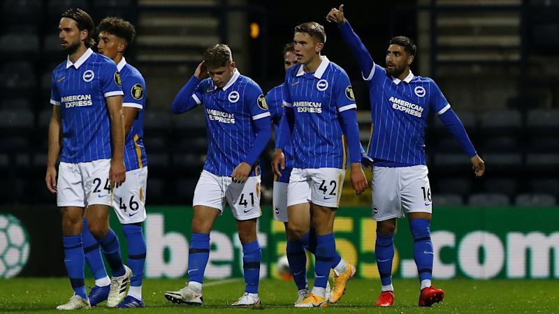 Brighton to face Manchester United after brushing aside Preston