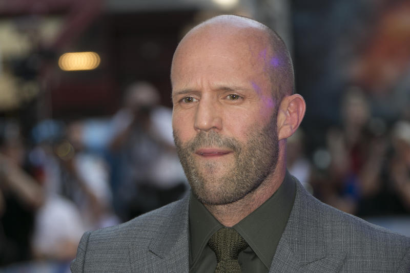 Actor Jason Statham poses for photographers at a special screening of Fast & Furious: Hobbs & Shaw, in a central London cinema, Tuesday, July 23, 2019. (Photo by Joel C Ryan/Invision/AP)