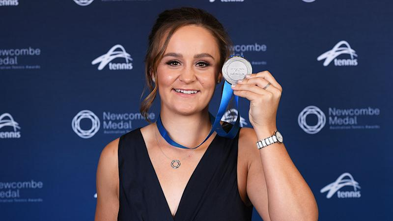 Pictured here, Ash Barty rose to World No.1 in 2019.