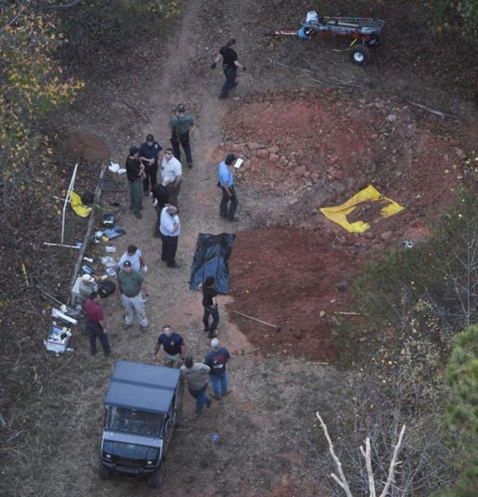 Authorities dug up Todd Kohlhepp's 100-acre property after he led them to the personal grave sites of bodies on his farmland. Photo: USA Today