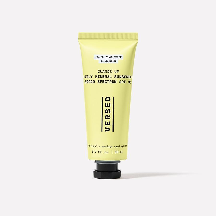 """<p>""""I recently switched my face sunscreen to the <a href=""""https://www.popsugar.com/buy/Versed-Daily-Mineral-Sunscreen-Broad-Spectrum-SPF-35-578699?p_name=Versed%20Daily%20Mineral%20Sunscreen%20Broad%20Spectrum%20SPF%2035&retailer=versedskin.com&pid=578699&price=22&evar1=bella%3Aus&evar9=47580543&evar98=https%3A%2F%2Fwww.popsugar.com%2Fbeauty%2Fphoto-gallery%2F47580543%2Fimage%2F47581035%2FVersed-Daily-Mineral-Sunscreen-Broad-Spectrum-SPF-35&list1=beauty%20products%2Csunscreen%2Ceditors%20pick%2Csummer%2Cskin%20care&prop13=mobile&pdata=1"""" class=""""link rapid-noclick-resp"""" rel=""""nofollow noopener"""" target=""""_blank"""" data-ylk=""""slk:Versed Daily Mineral Sunscreen Broad Spectrum SPF 35"""">Versed Daily Mineral Sunscreen Broad Spectrum SPF 35</a> ($22) and it's quickly become part of my morning skin-care ritual. I apply it after my serums and moisturizer, and it's incredibly lightweight. (It can be challenging to find a good face sunscreen that doesn't feel heavy on your skin.) The sunscreen is SPF 35 with over 17 percent zinc oxide and has a superlight tint to it - much lighter than my skin tone - but it disappears instantly."""" - Rebecca Brown, senior editor</p>"""