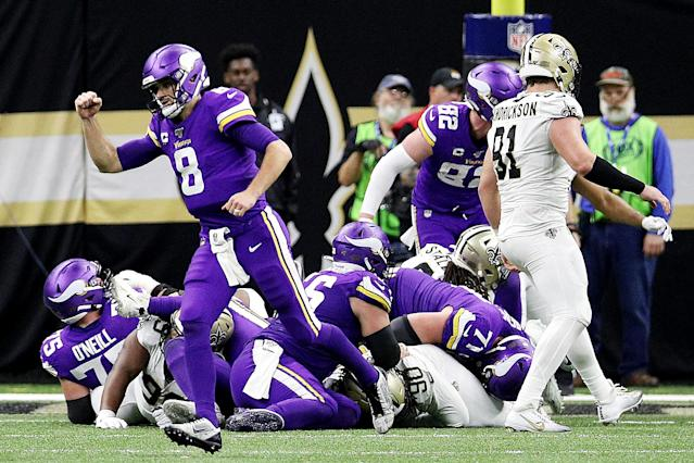 Kirk Cousins had one of the biggest moments of his career at New Orleans. (Photo by Chris Graythen/Getty Images)