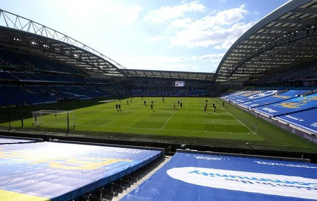 Brighton's Amex Stadium has a capacity of just over 30,000