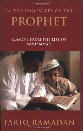 """<i><a href=""""http://www.amazon.com/In-Footsteps-Prophet-Lessons-Muhammad/dp/0195374762"""">In the Footsteps of the Prophet</a></i>&nbsp;is a&nbsp;biography of the Prophet Muhammad, focusing on the spiritual leader's&nbsp;spiritual and ethical teachings."""