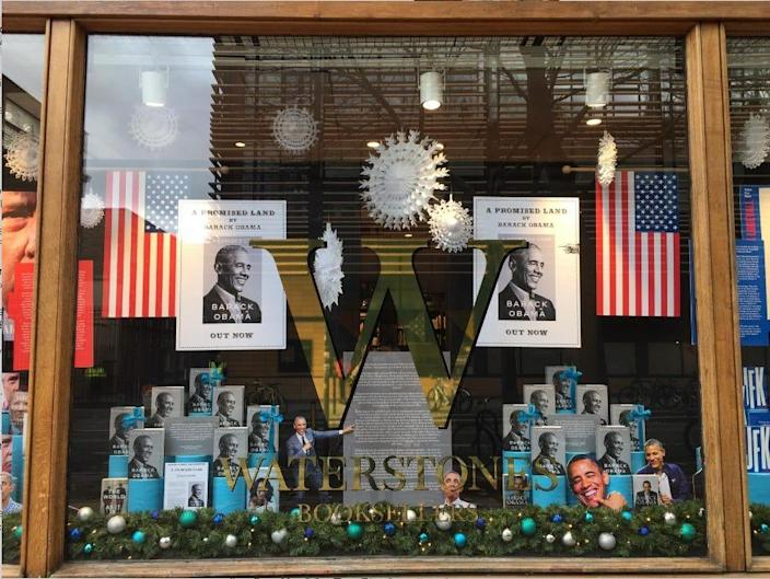 Gower Street Waterstones Store Barack Obama Book