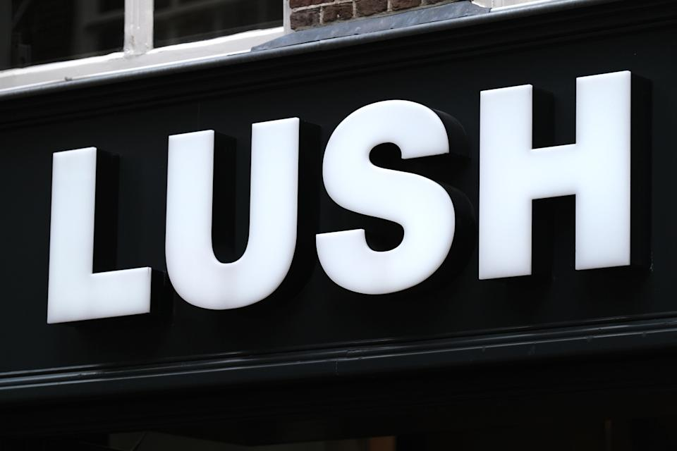 A logo of Lush cosmetics store