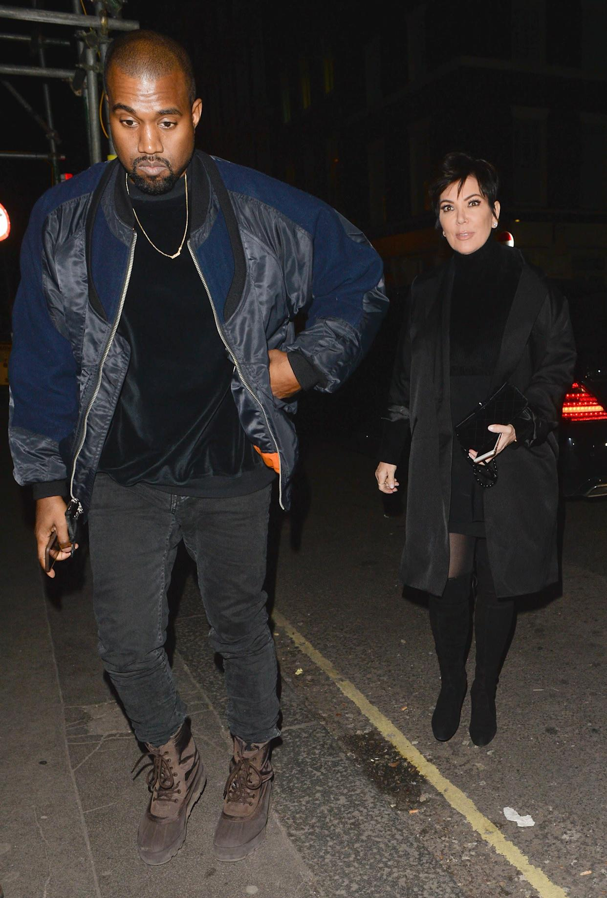 West and Kris Jenner atthe Arts club on March 2 in London.