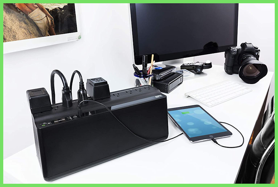 APC Surge Protectors and UPS Battery Back Up Systems protect small appliances, personal electronics and—ultimately—your entire home. (Photo: Amazon)