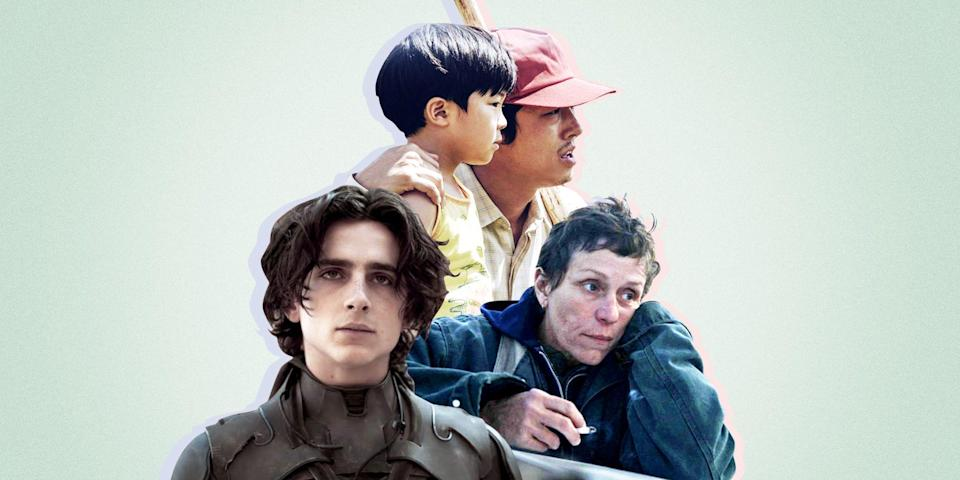 """<p class=""""body-dropcap"""">To be frank, the beginning of the year is usually pretty devoid of solid drama movies. Let's explain why: the Oscar cutoff date typically requires a theatrical run to take place by the very beginning of the year, meaning that the big heavy hitters we've come to expect from the drama canon are already released. Then COVID-19 happened.</p><p>That date has been pushed later (the Oscars are in late April this year, by the way), meaning that there's <a href=""""https://www.esquire.com/entertainment/movies/g226/best-movies-ever-0609/"""" rel=""""nofollow noopener"""" target=""""_blank"""" data-ylk=""""slk:a whole slew of incredible films"""" class=""""link rapid-noclick-resp"""">a whole slew of incredible films</a> that are going to be hitting streaming soon enough. And the variety this year is deep and wide. Andra Day is in contention for an Oscar. Regina King is in the conversation for Best Director. Real life American nomads are starring in feature films alongside Frances McDormand, and that's just the beginning of the year.</p><p>By year's end, we'll also have a new Wes Anderson flick, a new version of <em>Dune</em>, a full blown Elvis biopic, and we'll see just how uncanny Jennifer Hudson is in the role of Aretha Franklin. Gigantic shoes to fill. So take a breath and get yourself acquainted with this year's slate because <a href=""""https://www.esquire.com/entertainment/movies/g34589333/best-movies-of-2021/"""" rel=""""nofollow noopener"""" target=""""_blank"""" data-ylk=""""slk:2021 has more in store"""" class=""""link rapid-noclick-resp"""">2021 has more in store</a> than we could have ever asked for.</p>"""