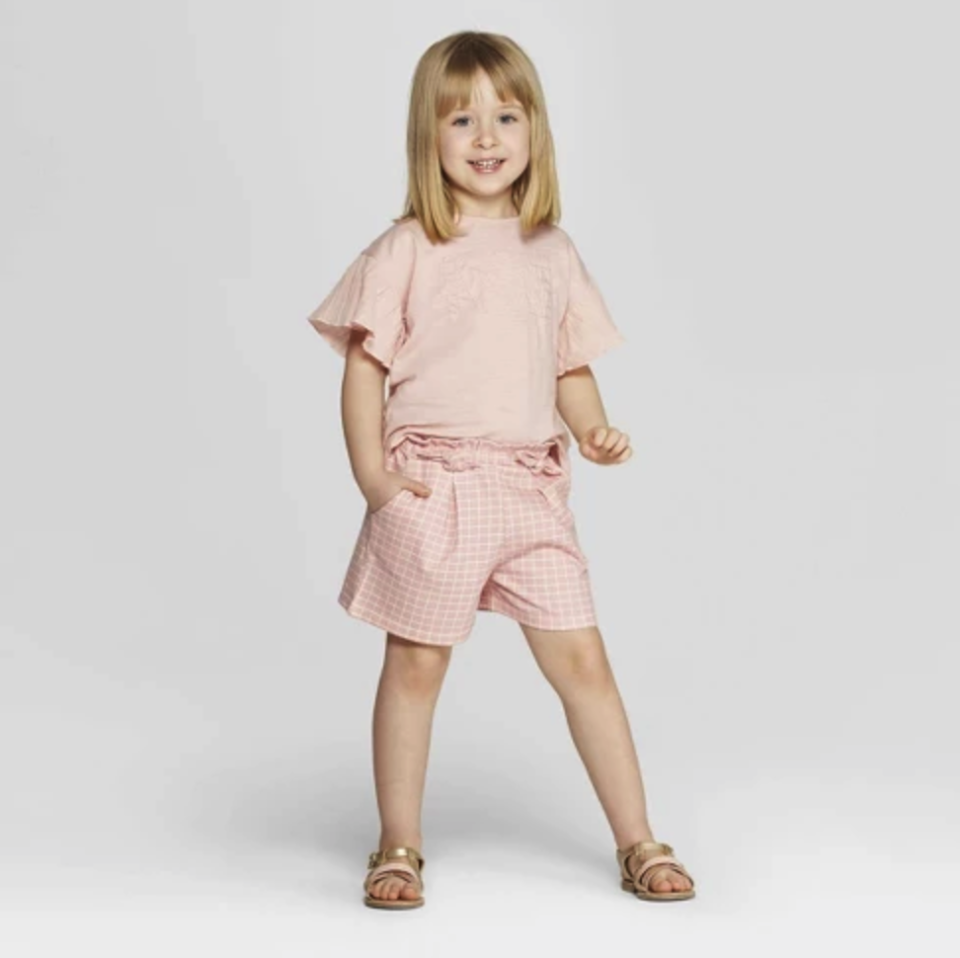 Mila & Emma Toddler Girls' 2pc Short Sleeve T-Shirt and Shorts Set. (Photo: Target)