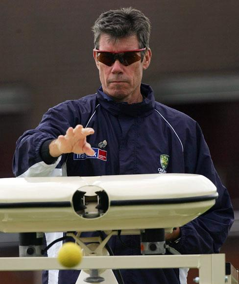John Buchanan coach of Australia in action during training at Somerset County Ground on June 14, 2005 in Taunton, United Kingdom (Photo by Hamish Blair/Getty Images) *** Local Caption *** John Buchanan
