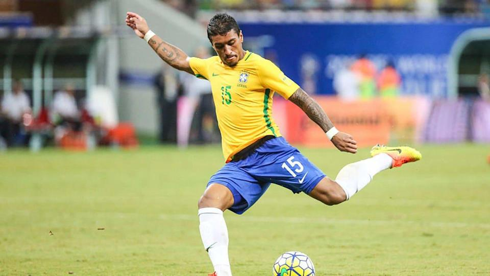 Paulinho dura a Copa do Mundo 2018. | William Volcov/Getty Images