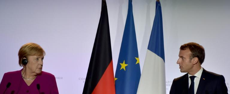 Von der Leyen has to contend with growing divisions between German Chancellor Angela Merkel and French President Emmanuel Macron (AFP Photo/Pascal PAVANI                       )