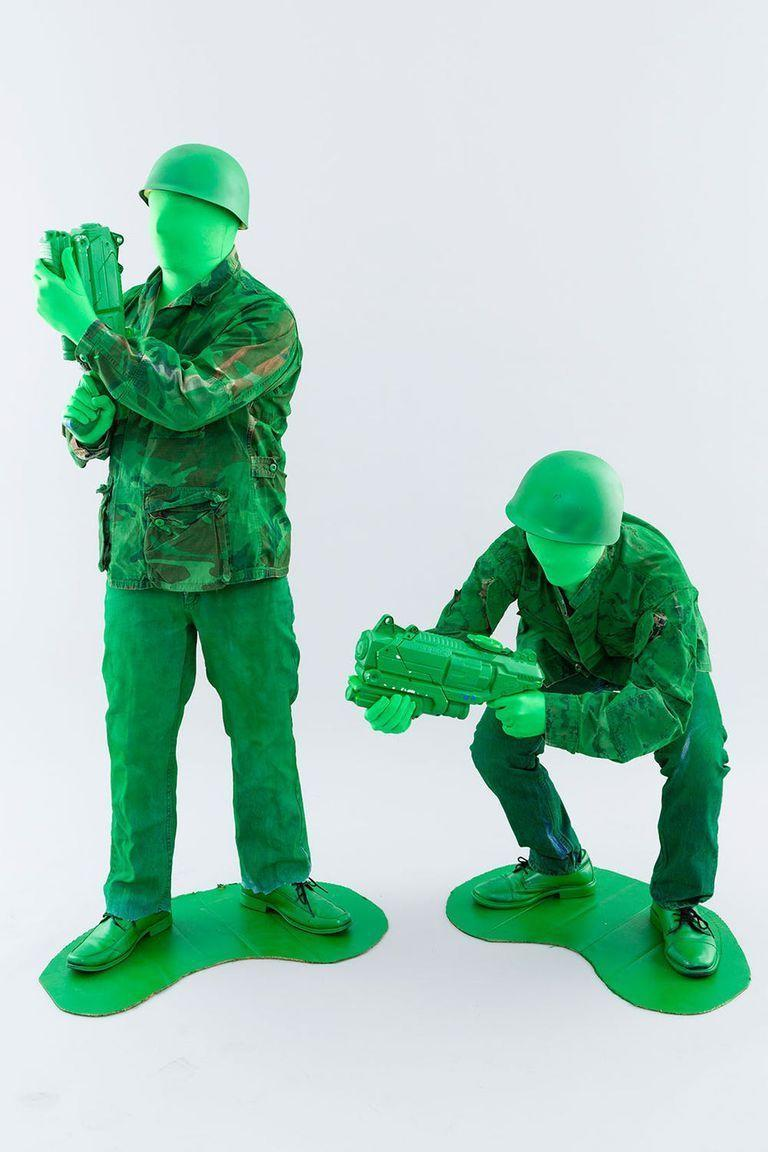 """<p>Green spray paint turns thrift store finds into a costume to remember. Remember: Leave no man behind! </p><p><a class=""""link rapid-noclick-resp"""" href=""""https://www.amazon.com/gp/product/B005Q8US0S/?tag=syn-yahoo-20&ascsubtag=%5Bartid%7C10055.g.28089320%5Bsrc%7Cyahoo-us"""" rel=""""nofollow noopener"""" target=""""_blank"""" data-ylk=""""slk:SHOP GREEN BODY SUIT"""">SHOP GREEN BODY SUIT</a></p><p><em><a href=""""https://www.brit.co/gay-couple-halloween-costumes/"""" rel=""""nofollow noopener"""" target=""""_blank"""" data-ylk=""""slk:S"""" class=""""link rapid-noclick-resp"""">S</a></em><em><a href=""""https://www.brit.co/gay-couple-halloween-costumes/"""" rel=""""nofollow noopener"""" target=""""_blank"""" data-ylk=""""slk:ee more at Brit + Co »"""" class=""""link rapid-noclick-resp"""">ee more at Brit + Co »</a></em></p>"""