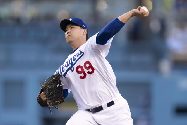 "<a class=""link rapid-noclick-resp"" href=""/mlb/teams/la-dodgers/"" data-ylk=""slk:Los Angeles Dodgers"">Los Angeles Dodgers</a> starting pitcher <a class=""link rapid-noclick-resp"" href=""/mlb/players/9317/"" data-ylk=""slk:Hyun-Jin Ryu"">Hyun-Jin Ryu</a> has been great about keeping the ball in the ballpark this season. (Photo by Kyusung Gong/Icon Sportswire via Getty Images)"