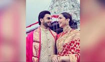 The power couple celebrated their first anniversary in November and shared with us, little glimpses of the day well-spent. The pic of these love-birds broke the internet within minutes, and rightly so. Don't they look happy!!! And look, they even matched their sarees - ahh kidding!!!