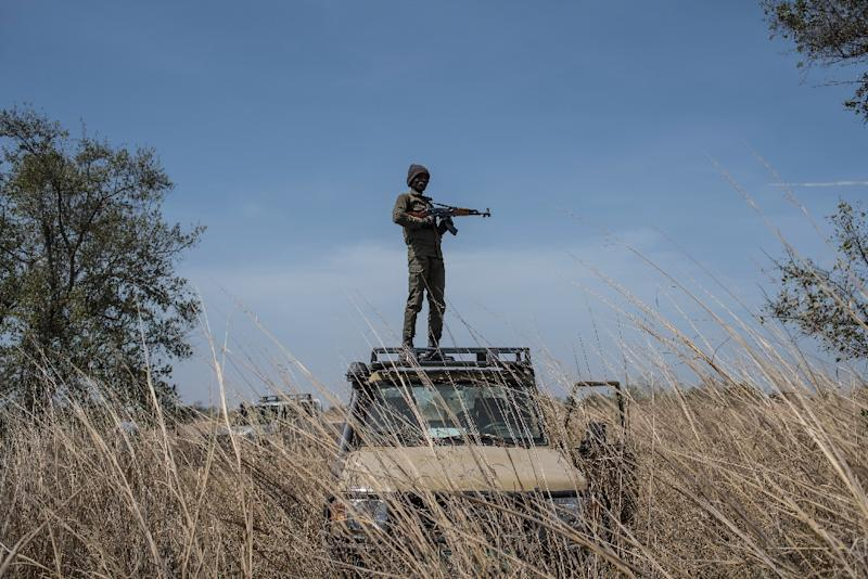 The French hostages disappeared while on holiday in the remote Pendjari National Park in Benin (AFP Photo/STEFAN HEUNIS)