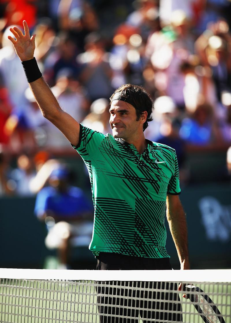 Tennis - Federer beats Wawrinka for fifth Indian Wells title