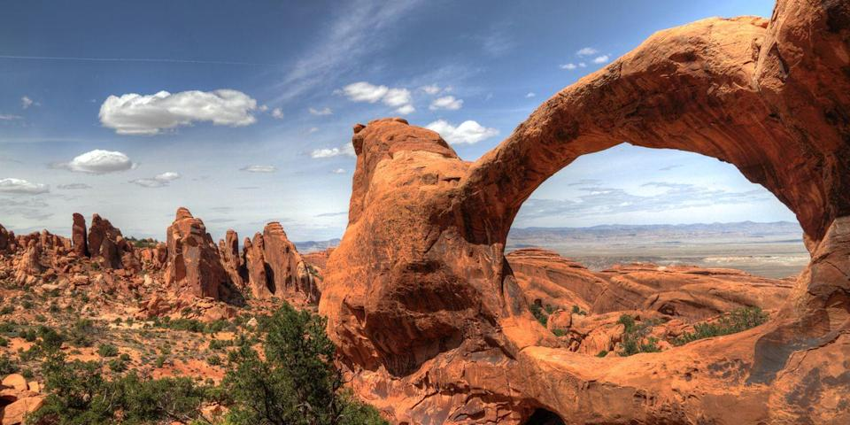 "<p><strong>Best for Adventure</strong></p><p>The red sandstone monoliths of <a href=""https://www.tripadvisor.com/Tourism-g143011-Arches_National_Park_Utah-Vacations.html"" rel=""nofollow noopener"" target=""_blank"" data-ylk=""slk:Arches National Park"" class=""link rapid-noclick-resp"">Arches National Park</a> in southeast Utah make for a giant playground for hikers, bikers, climbers, off-roaders, rafters, and other adrenaline junkies. </p><p>Throughout the park, there are 2,000 natural arches, including the famous <a href=""https://www.tripadvisor.com/Attraction_Review-g143011-d117172-Reviews-Delicate_Arch-Arches_National_Park_Utah.html"" rel=""nofollow noopener"" target=""_blank"" data-ylk=""slk:Delicate Arch"" class=""link rapid-noclick-resp"">Delicate Arch</a>, which you might recognize from Utah's license plate. <br></p><p><strong><em>Where to Stay: </em></strong><a href=""https://www.tripadvisor.com/Hotel_Review-g60724-d285842-Reviews-Holiday_Inn_Express_Hotel_Suites_Moab-Moab_Utah.html"" rel=""nofollow noopener"" target=""_blank"" data-ylk=""slk:Holiday Inn Express Hotel & Suites Moab"" class=""link rapid-noclick-resp"">Holiday Inn Express Hotel & Suites Moab</a>, <a href=""https://www.tripadvisor.com/Hotel_Review-g60724-d7179598-Reviews-Fairfield_Inn_Suites_Moab-Moab_Utah.html"" rel=""nofollow noopener"" target=""_blank"" data-ylk=""slk:Fairfield Inn & Suites Moab"" class=""link rapid-noclick-resp"">Fairfield Inn & Suites Moab</a></p>"