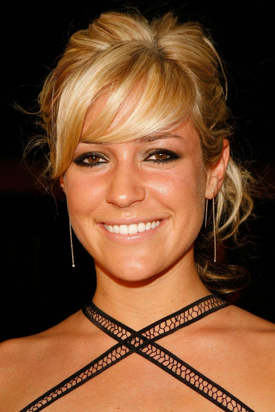 """<p><strong>MTV Australia Video Music Awards, 2007</strong></p><p>""""This is aggressive,"""" Cavallari says, bursting out laughing. """"My hair is yellow! There's a lot of liner going on and my hair is <em>yellow</em>. I like the top. But wow, that makeup.""""</p><span class=""""copyright"""">Photo: Chris Polk/FilmMagic.</span>"""