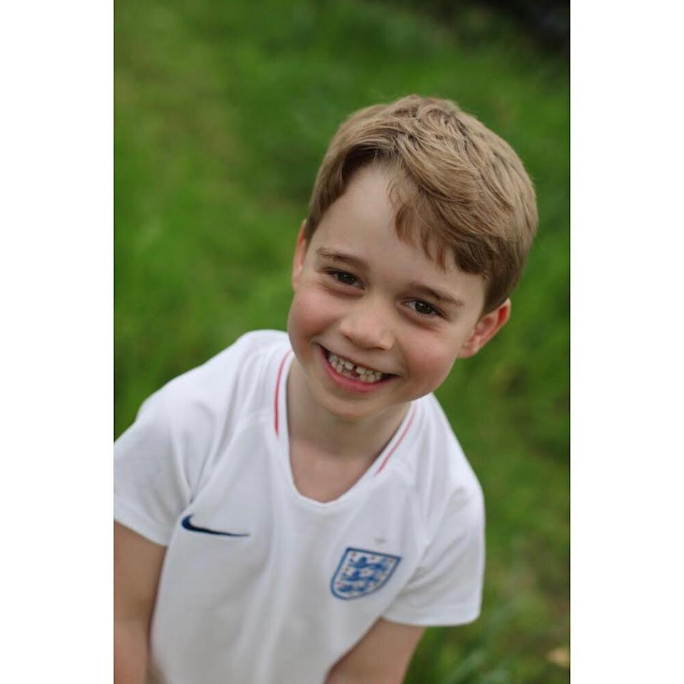 Prince George in a jersey