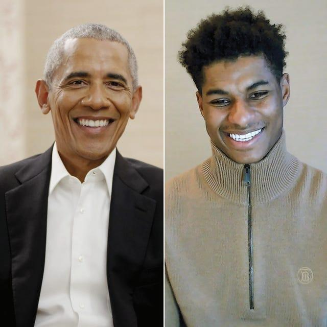 Rashford and Barack Obama recently spoke about supporting young people.