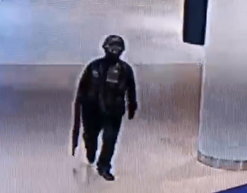 A CCTV still of the Thai soldier suspected of the bloody rampage at a shopping centre.