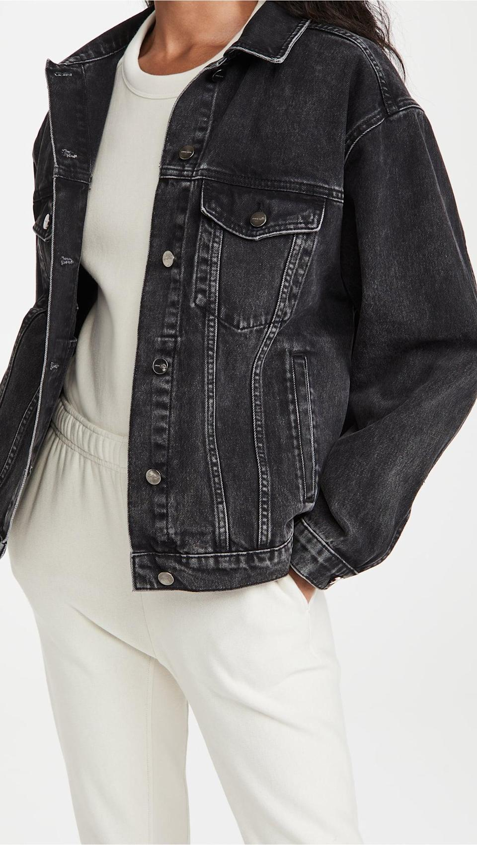 <p>Go oversized with this <span>Anine Bing Vintage Black Rory Jacket</span> ($299).</p>