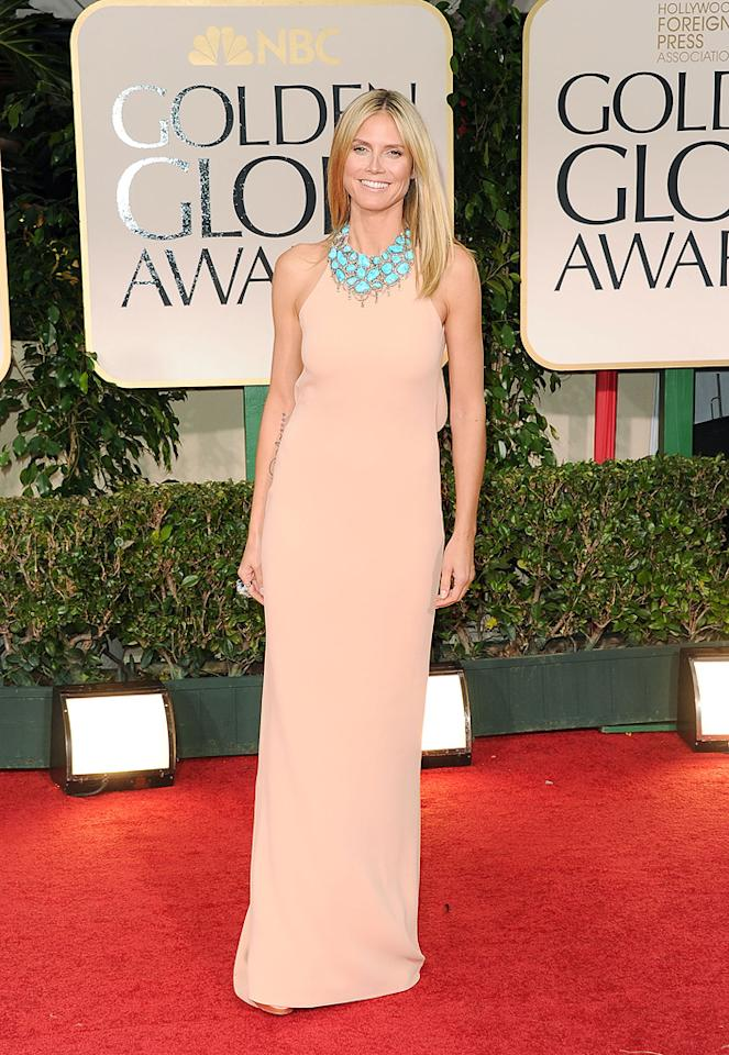 Heidi Klum arrives at the 69th Annual Golden Globe Awards in Beverly Hills, California, on January 15.