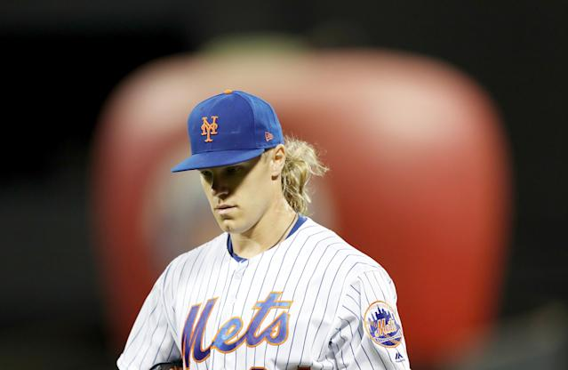 Mets pitcher Noah Syndergaard sued by NYC landlord over missed rent on $27,000-a-month penthouse. (Elsa/Getty Images)